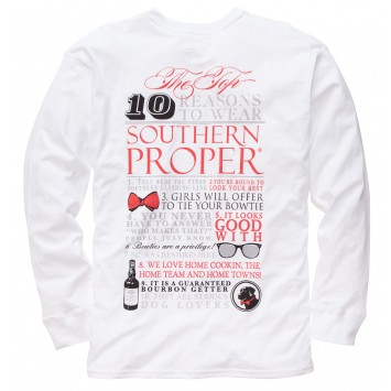Top Ten Tee: White Long Sleeve